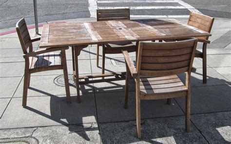 teak patio set patio design ideas
