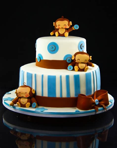 monkey theme cakes  baby showers design dazzle