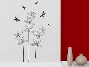 Pflanze Mit S : wandtattoo zarte pflanze mit schmetterlingen bei ~ Orissabook.com Haus und Dekorationen