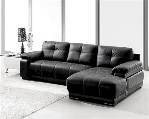 black bonded leather sectional sofa set ls