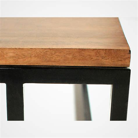 Reclaimed Wood Planks And Metal Base Coffee Table Rotsen