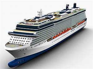 Celebrity Reflection Cruise Ship 3D Model .max .obj .fbx ...