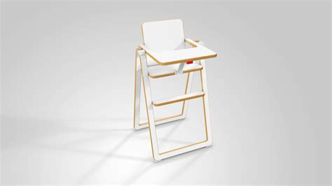 chaise haute pliante ultra plate supaflat natalys