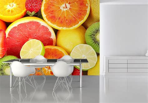 fruits kitchen wall decor paper wallpapers online store