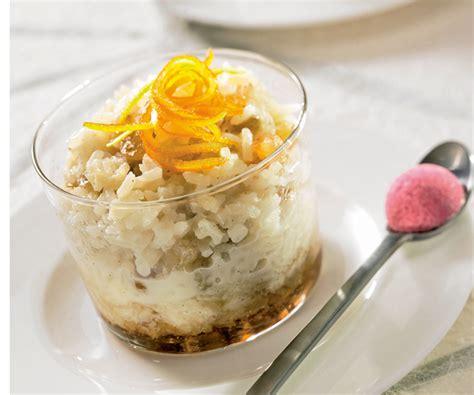 dessert facile riz au lait de coco et zeste d orange