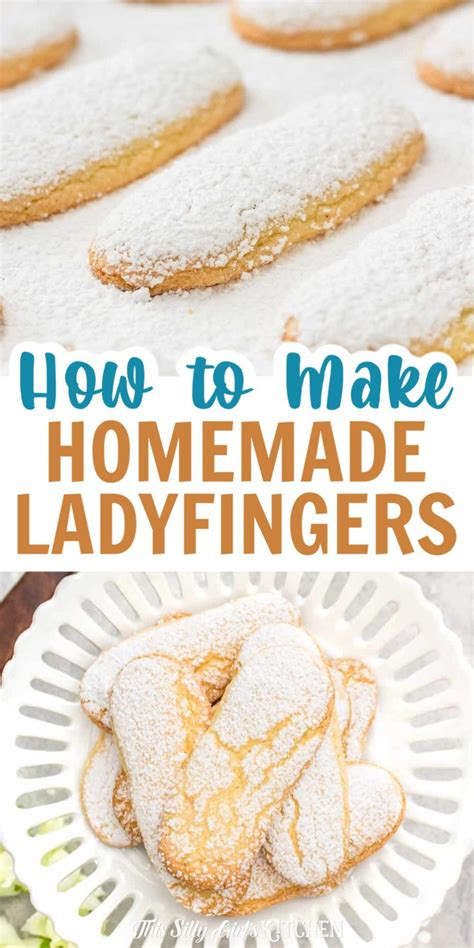 This recipe is adapted from babsie steger; How to Make Lady Fingers Cookies - This Silly Girl's Kitchen | Recipe in 2020 | Dessert recipes ...