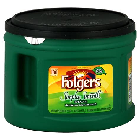 Our breakfast blend is mildly acidic, as none of our folgers coffees are specifically formulated to be low acid. Folgers Simply Smooth Ground Coffee, Decaf, 23 oz (1 lb 7 oz) 652 g