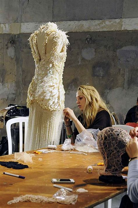 haute couture  making   dress dressmakers hand