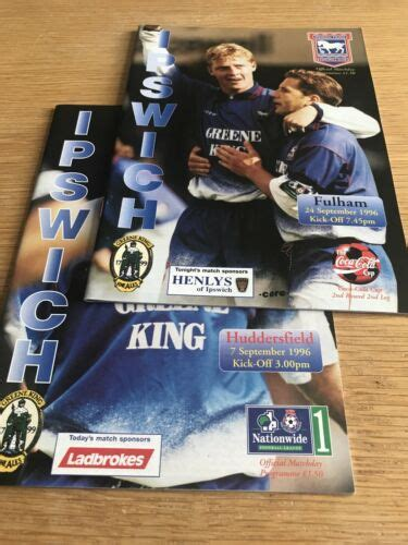 Ipswich Town 96/97 V Fulham And Huddersfield | Everton