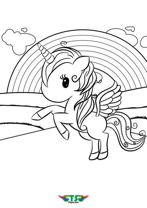 unicorn   rainbow coloring pages tsgoscom