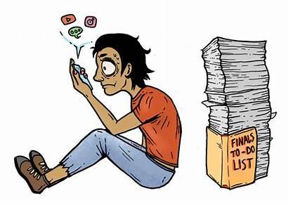 Procrastination Clipart Procrastinate Students Overcoming Examine Faculty