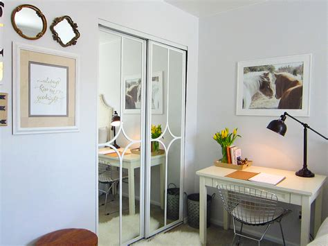 mirror sliding closet doors mirrored closet door makeover