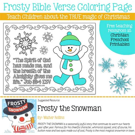 frosty the snowman bible coloring ultimate homeschool 100 | 5ac1a74c6e7887c0483288bbe667b286