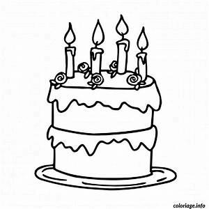 Dessin Gateau Anniversaire : coloriage gateau d anniversaire cremeux dessin ~ Melissatoandfro.com Idées de Décoration