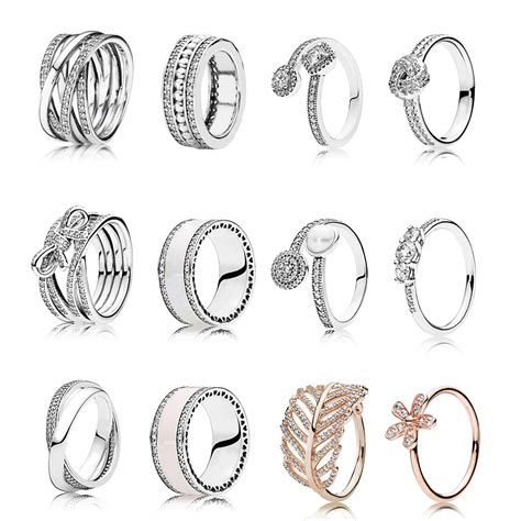 different styles ring real 925 sterling silver rings for fashion band wedding rings