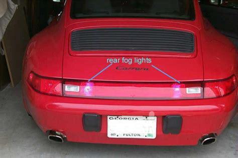 rear fog light porsche 993 rear fog light installation 911 1993