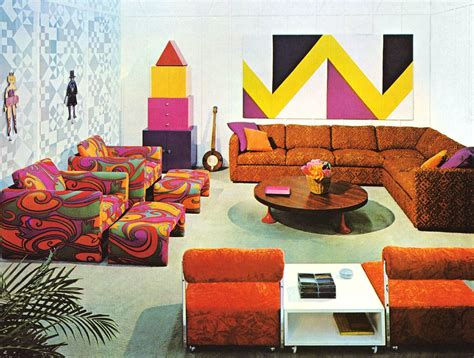 Groovy Interiors 1965 And 1974 Home Décor: Vintage And Kitschy And Mid Century