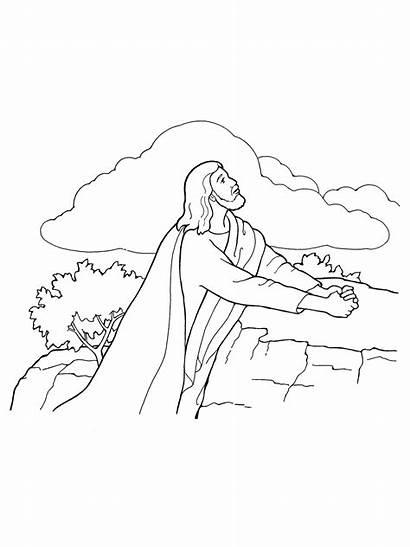 Jesus Christ Gethsemane Lds Praying Atonement Coloring