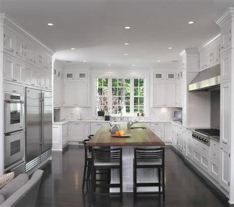 small galley style kitchen   foot ceilings