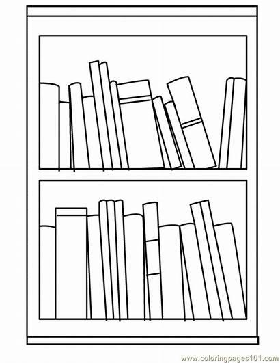 Bookshelf Clipart Coloring Shelf Bullet Journal Books
