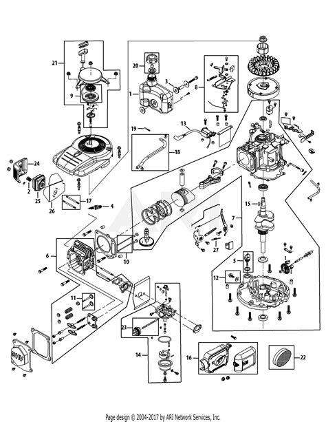 Mtd Engine Parts Diagram For Assembly