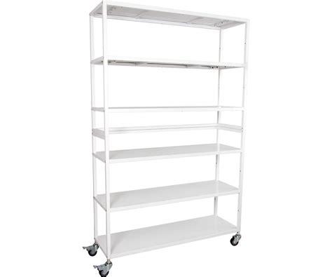 Vertical Grow Shelf Unit 6 Shelves Wwheels Toledo