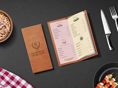 Free inside restaurant menu board mockup. Restaurant Menu Card PSD Mockup by GraphicsFuel (Rafi ...