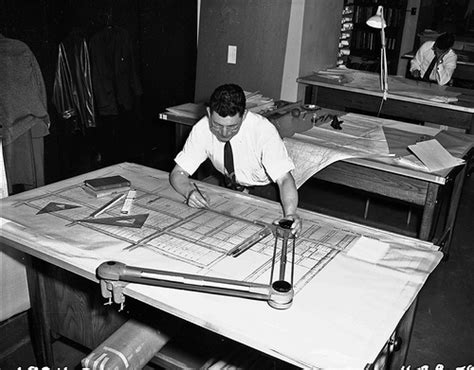 Drafter Working In Engineering Department, 1959  Item