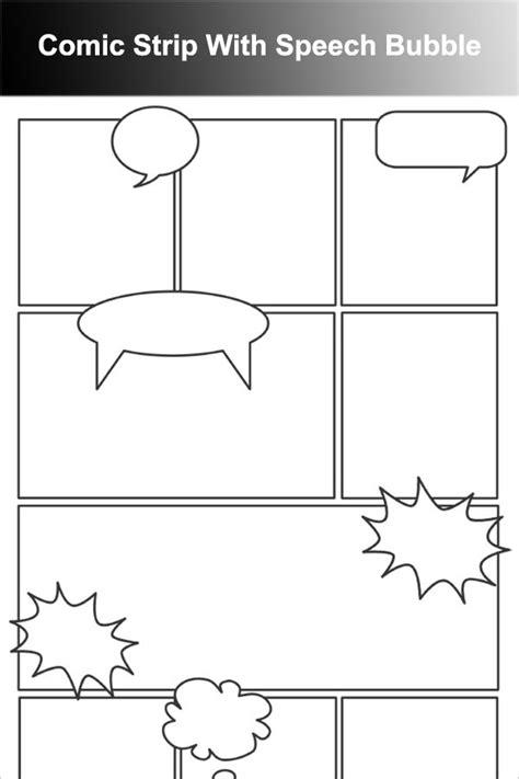 Comic Strip With Speech Bubble