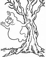 Ghost Halloween Coloring Pages Printable Scary Monster Tree Colouring Cliparts Trees Para Very Printables Library Clipart Dibujos Colorings Getcoloringpages Choose sketch template