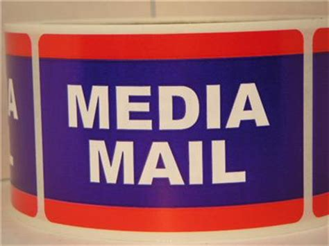 media mail usps  stickers shipping mailing labels rl