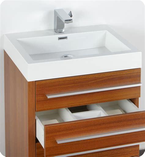 teak bathroom vanity fresca livello 24 quot teak modern bathroom vanity with faucet