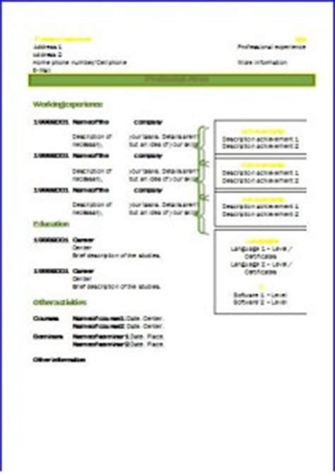 Matrice Cv by Cv Formats And Templates Resume Templates