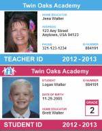 free homeschool id card for teachers and students With homeschool id card template