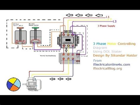 Phase Motor Wiring Hindi Urdu With Animation