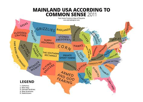 31 Funny Maps Of National Stereotypes And How People View ...