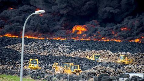 Huge Tire Dump Fire Near Madrid Releases Toxic Cloud