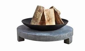Brasero En Pierre : brasero fonte socle granit ustensiles de cuisine ~ Nature-et-papiers.com Idées de Décoration