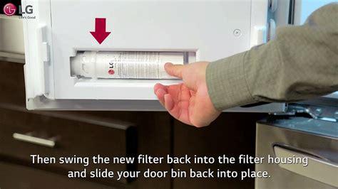 lg refrigerator   change  water filter  door french door youtube