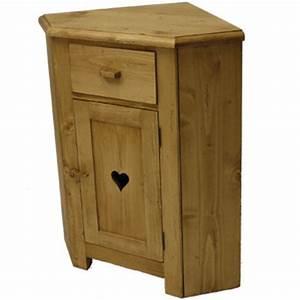 Meuble D Angle : meuble d angle 1 porte coeur 1 tiroir ~ Teatrodelosmanantiales.com Idées de Décoration