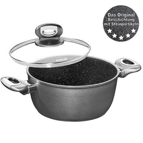 germany stoneline cookware glass roasting pots lid pot cm cooking