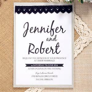 simple wedding invitations simple modern black lace layered wedding invite ewls038 as low as 1 93