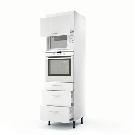 colonne de rangement cuisine meuble de cuisine colonne blanc 2 portes 3 tiroirs h