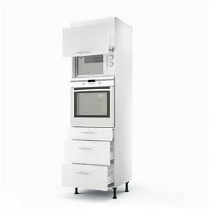 Meuble Cuisine Leroy Merlin : meuble de cuisine colonne blanc 2 portes 3 tiroirs rio h ~ Melissatoandfro.com Idées de Décoration