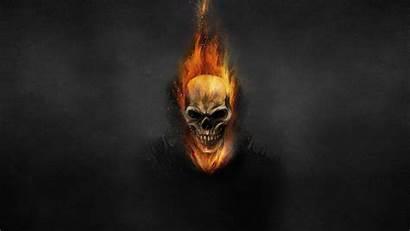 Ghost Rider Skull Fire 4k Skeleton Wallpapers