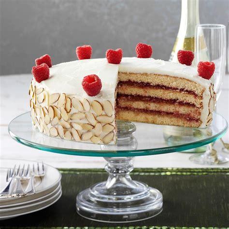 Almond Raspberry Torte Recipe   Taste of Home