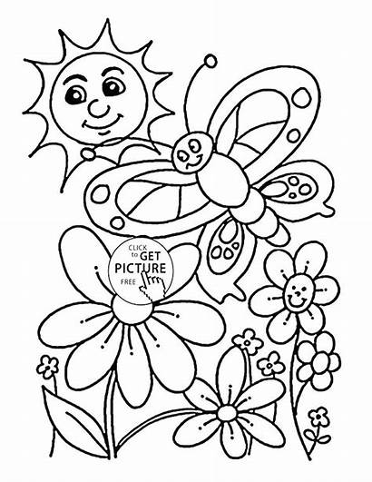 Coloring Pages Winter Nature Printable Spring Seasons