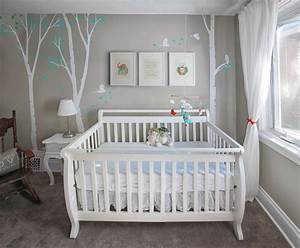 Unisex nursery with custom renovation finishing and painting for Modern unisex nursery ideas