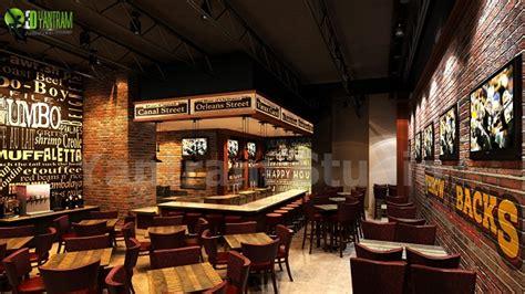 Bar Interior Design by Bar Restaurant 3d Interior Design Architizer