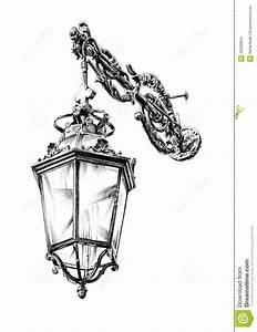 Dessin Fait Main : dessin de lanterne de rue antique fait main illustration stock illustration du d coratif ~ Dallasstarsshop.com Idées de Décoration